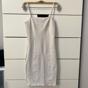White fitted bodycon dress
